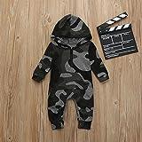 Charberry Cute Newborn Clothes Infant Baby Girl Boy Fox Print Warm Romper Jumpsuit