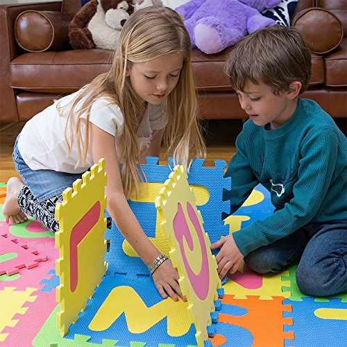MOTA Alphabet ABC Mat - EVA Foam - Anti-Slip Foam Jigsaw Puzzle Floor Play Mat - 26 Tiles
