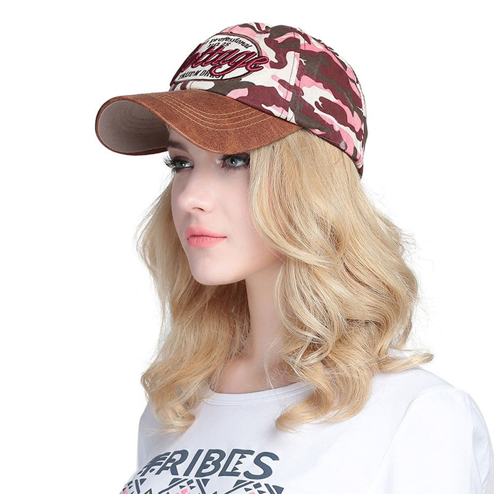 59f10dac492 VEC Brand Cool Army Camouflage Cap Snapback Hiphop Hat Adjustable Baseball  Cap Sunhat (Army Green) at Amazon Men s Clothing store