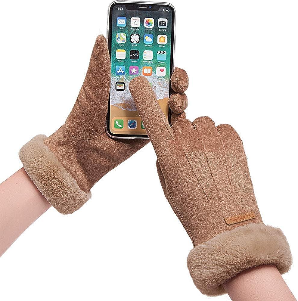 Winter Gloves Women Caseeto Touchscreen Ladies Thermal Gloves