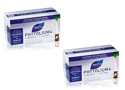 Duo Phytolium 4 - Concentrado anticaída para hombre, 12 ampollas de 3,5 ml