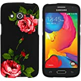Miniturtle [Samsung Galaxy Avant case, Avant Cover] -[Snap Shell] 2 Piece Rubberized Hard Plastic Case - Affectionate Flowers