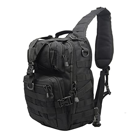 Military Tactical Assault Pack Sling Backpack Army Molle Waterproof EDC Rucksack Bag For Outdoor Hiking Camping