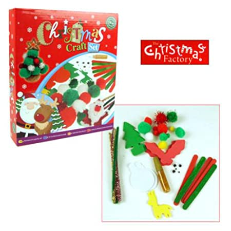 The Christmas Factory Christmas Craft Set Santas Grotto North Pole