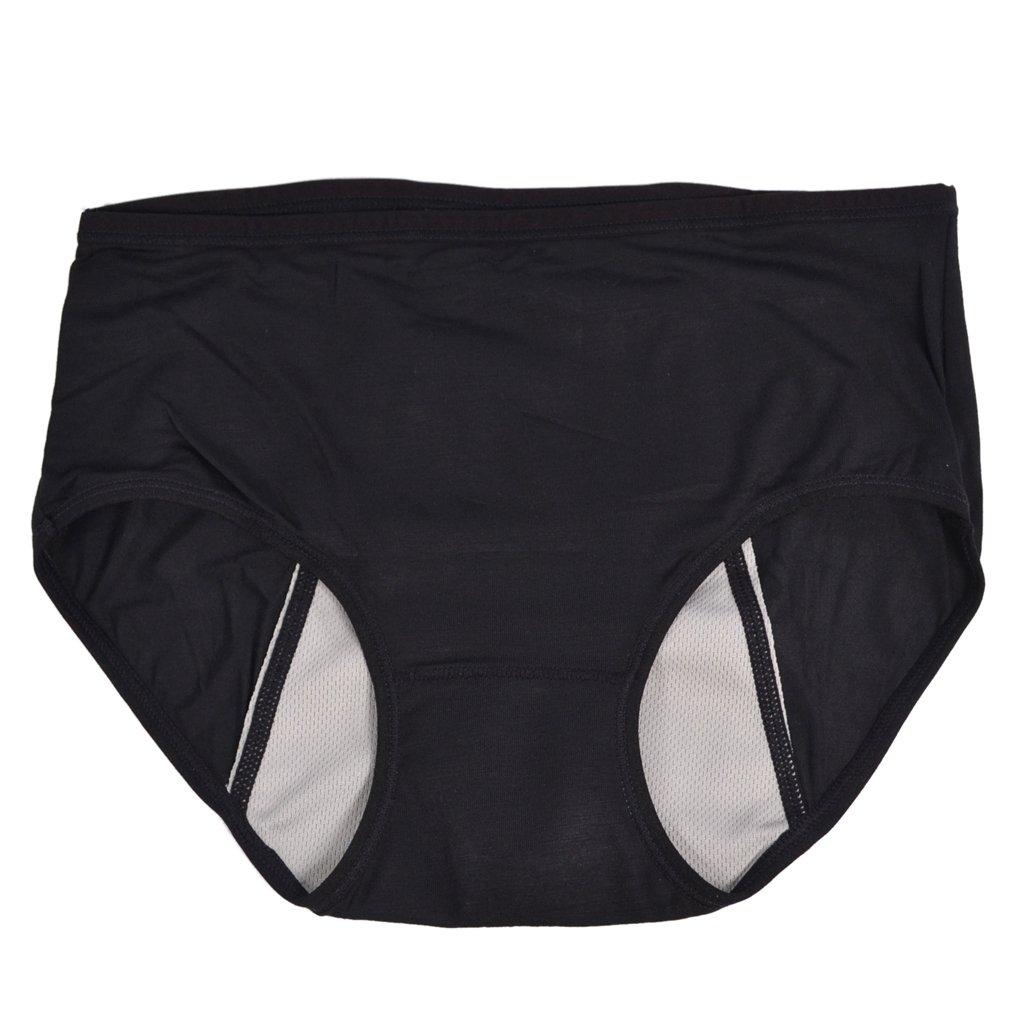 MagiDeal Womens Menstrual Period Leakproof Briefs Seamless Panties - Black, M STK0155001518