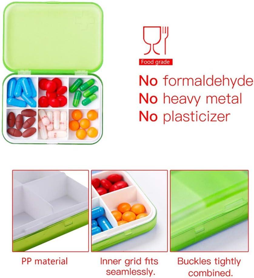 Portapillole portatile piccolo contenitore per pillole per borsa o tasca custodia per pillole bianco Portapillole