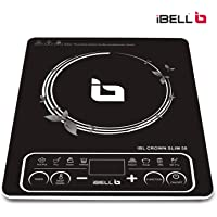 iBELL Induction Cooktop with Auto Shut Off and over Heat Protection (Black, 2200 W)