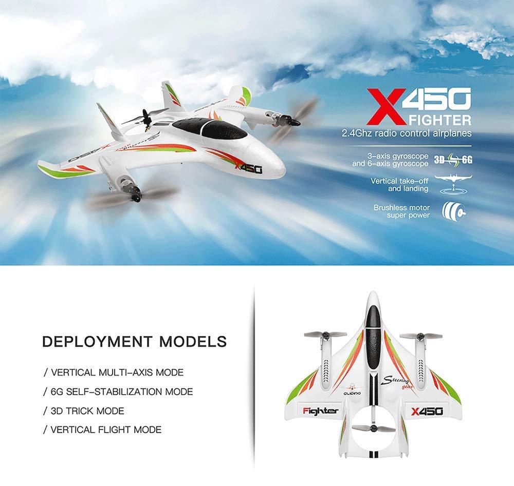 RONSHIN RC Multirotore Multirotor WLtoys XK X450 Decollo atterraggio Verticale Senza spazzole a 6 Vie Aereo ad Ala Fissa