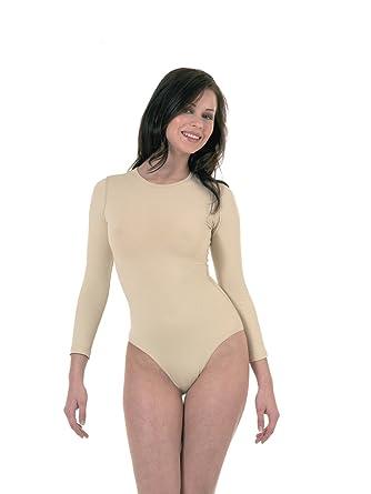 Elegance1234 pour Femmes Neuf QUALITÉ Roundneck Manches Longues Peau Couleur  Combinaison(2340)  Amazon.fr  Vêtements et accessoires 84b91f9c598