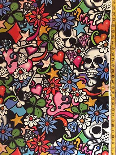 (Street Skull Alexander Henry Fabric - by The Yard (Yard))