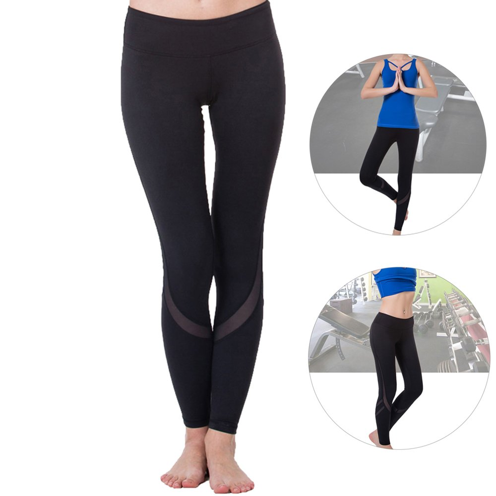 25d41a3aecec41 Fashion length yoga sports pants,Sexy Stylish See-through Spliced super  breathable. Just pair it with a casual, perfect for chilling at home, ...