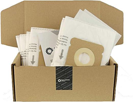 ReleMat SpareHome® 10 Bolsas H63 de Alta filtarción + 2 microfiltros para Aspirador Hoover: Amazon.es: Hogar