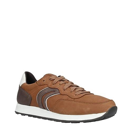 c376bd1da9d8b4 Geox Men's U Vincit C Low-Top Sneakers Brown (Cognac/Coffee C6251)