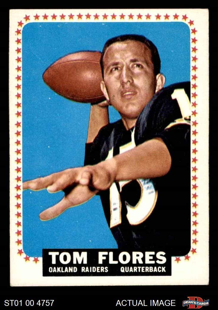 1964 Topps # 139 Tom Flores Oakland Raiders (Football Card) Dean's Cards 5 - EX Raiders