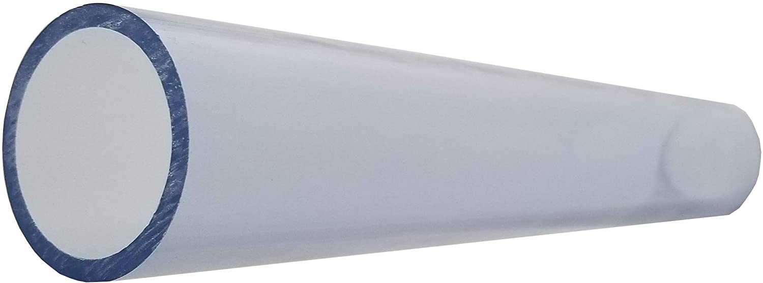 1 1//2 Inch Diameter Clear PVC Schedule 40 Pipe Pipe ID approximately 1.590 inch 8 Feet 96 Inches Long