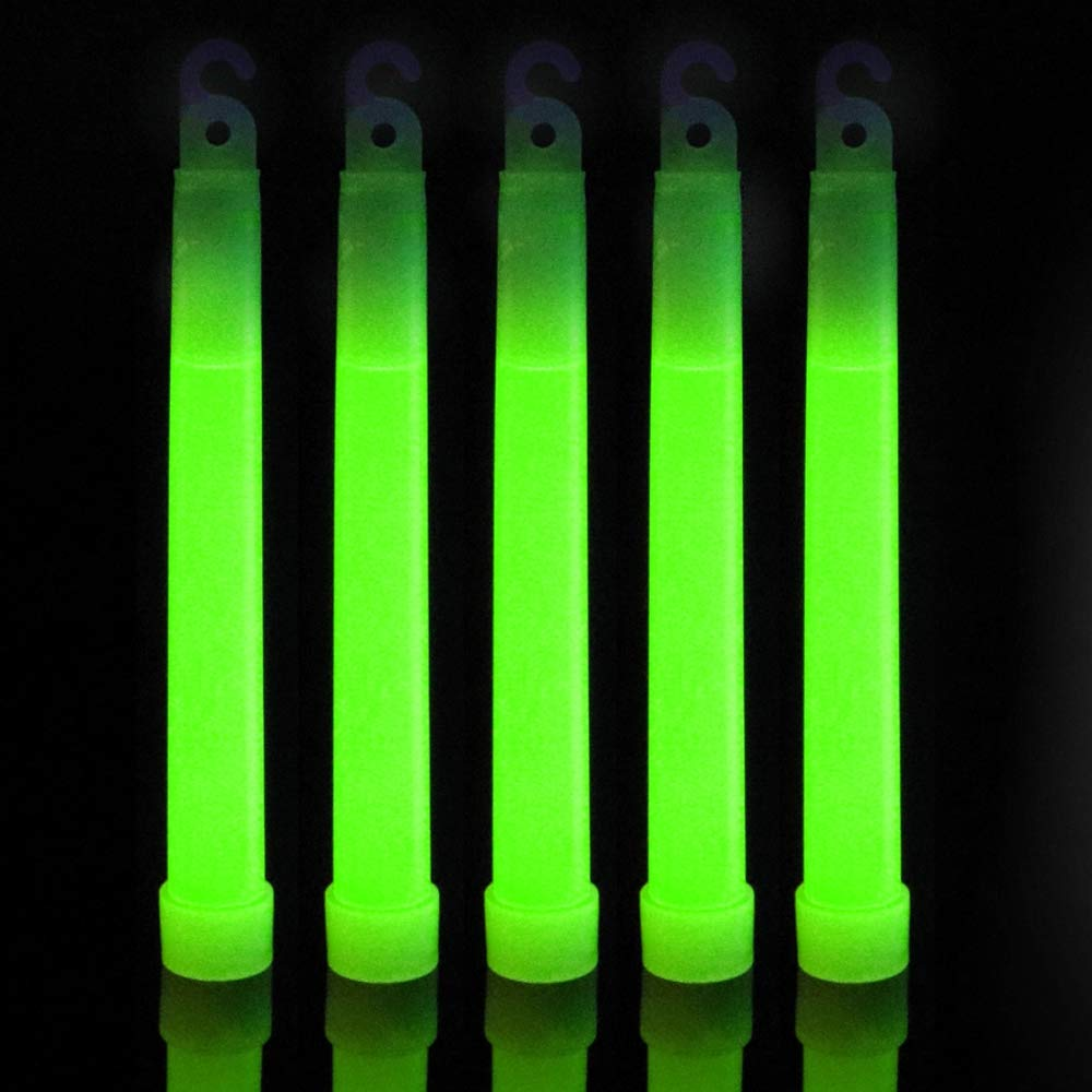 IncrediGlow 6 Inch Glow Sticks Bulk Pack | Long Lasting 8-12 Hours Bright Chemical Lights | Industrial Grade Emergency Light Sticks | Glow in The Dark Lightsticks