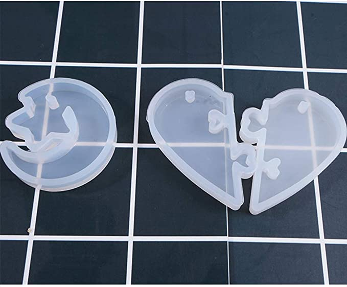 10 Pcs Aliens Cat Epoxy Silicone Resin Mould Kit Keychain DIY Decoration for Pendant Necklace Earring Casting Making Mould VVXXMO Resin Casting Molds