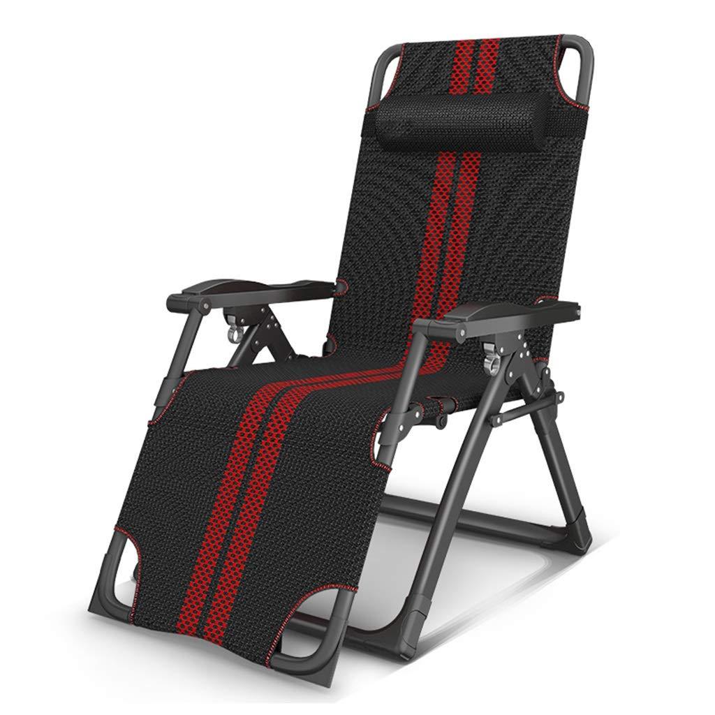 Lettino da Giardino Pieghevole reclinabile Textoline Sun Lounger Sedie a Sdraio Regolabili per Esterni a gravità Gravity Heavy Duty (colore   Chair)