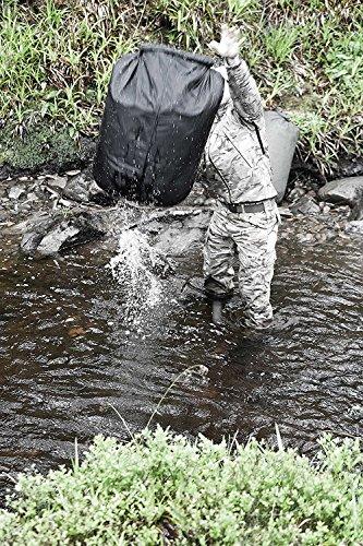 Highlander DB117leicht Wasserdichter Roll Top Dry Tasche Sack Beutel schwarz 140L