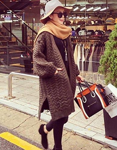 Casual Bonnetterie Veste Hiver Pull Caf Femmes Chandail Cardigans Outwear Longue Cape SANKU Tricot Longue Manche Sweaters Gilet Manteau Coat q5gHOxw6wT