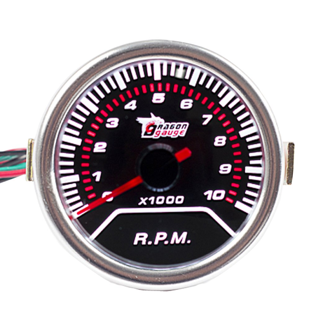 E Support™ Car Universal Smoke Len 2' 52mm Oil Temp Temperature Indicator Gauge Meter