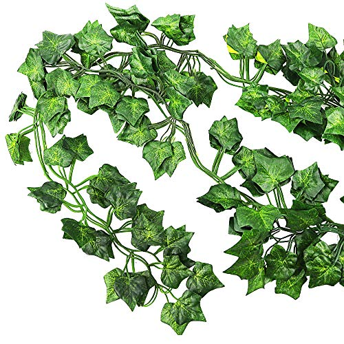 JPSOR 24 Pack (79 inch Each) Fake Ivy Artificial Ivy Leaves Greenery Garlands Hanging for Wedding Party Garden Wall Decoration by JPSOR (Image #2)