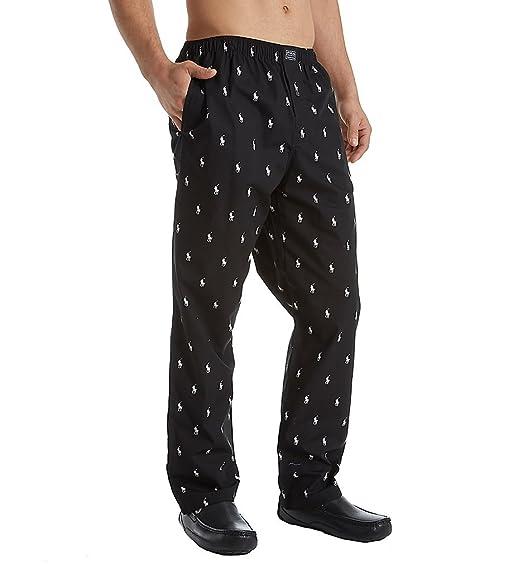 915ebbc14 Polo Ralph Lauren Men s Allover Pony Pajama Lounge Pants at Amazon Men s  Clothing store