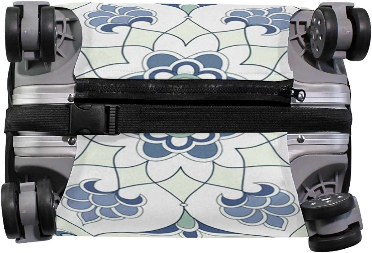 GIOVANIOR Traditional Arabic Floral Luggage Cover Suitcase Protector Carry On Covers