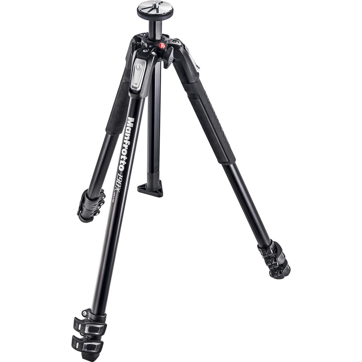 Manfrotto MVH502AH Pro Video Head with Quick-Release and Flat Base (3/8''-16 Connection), - With Manfrotto 190X 3 Section Aluminum Tripod by Manfrotto