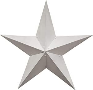 """Hearthside Collection CWI Gifts Farmhouse White Barn Star, 36"""", Multi"""