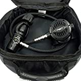SOPRAS TEK REGULATOR DIANA YOKE 1ST + 2ND STAGE ANDROMEDA W {28in-72cm} BLACK BRAIDED FLEX HOSE SCUBA DIVING FREE DELUXE REG BAG