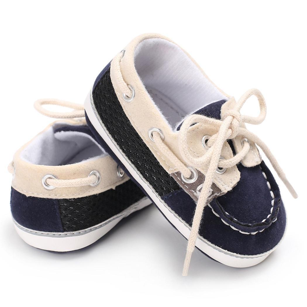 Marine, 0~6 M Chaussures b/éb/é,Xinan Chaussures Gar/çon Fille Cuir Souple Automne Chaussures Mode