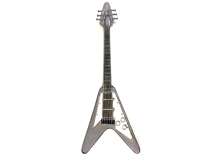 Nuevo - decoración de pared de metal contemporáneo escultura - Rock guitarra eléctrica: Amazon.es: Hogar
