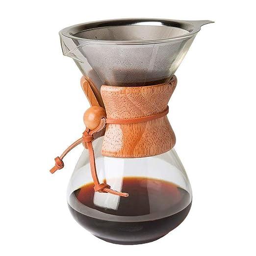 Amazon.com: Haihuic - Cafetera de café de 400 ml, con filtro ...