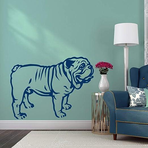 jiushixw Dibujos Animados Bulldog francés Etiqueta de la Pared ...