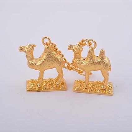 Feng Shui par de Golden camellos llavero amuleto + libre ...