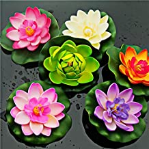 10 x Artificial PE Foam Lotus flowers Water Lily Floating Pool Plants Wedding Decoration