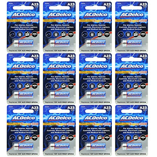 ACDelco 12V Super Alkaline Batteries, 12 Count