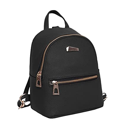 93acc141f1f8 Image Unavailable. Image not available for. Color  Qjoy Fashion Women Mini  Backpack PU Leather College Shoulder Satchel School Rucksack ...