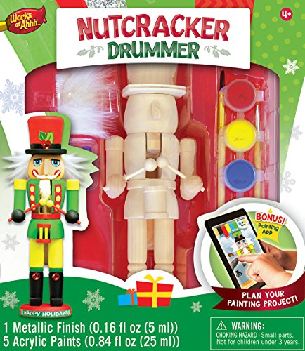 MasterPieces Works of Ahhh Nutcracker Drummer Large Wood Paint Kit