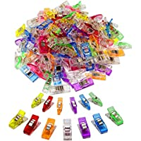 100 Pack-2 Sizes Sewing Clips Multicolor for Sewing Craft...