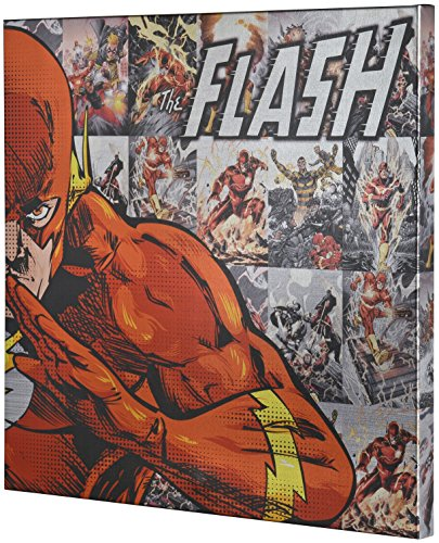 Edge Home Products Metallic Canvas DC Art, 25 by 25 Inch, Flash by Edge home