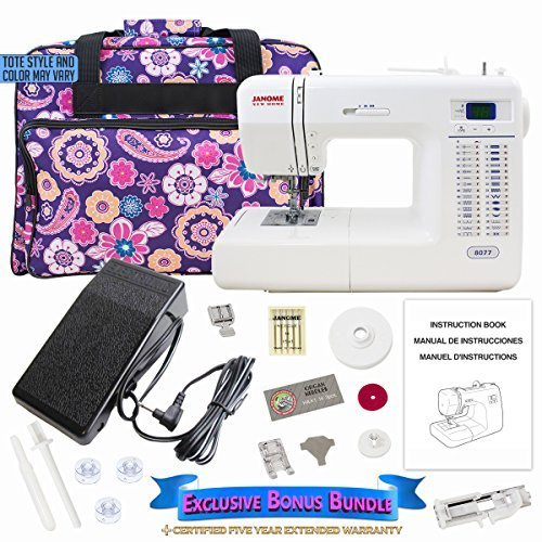 Janome 8077 Computerized Sewing Machine Includes Exclusive Bonus Bundle