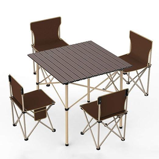Mesa y sillas Plegables para Exteriores Juego de Mesa Plegable ...