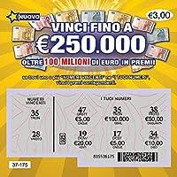 5 X Finti Scherzo Lotteria Biglietti Gratta e Vinci Estremamente Realistici – Tutti sembrano Portare alla vincita di Un montepremi tra €50.000 e €250.000