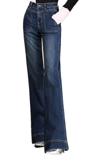 Amazon.com: Cresay - Pantalón vaquero de bolsillo para mujer ...