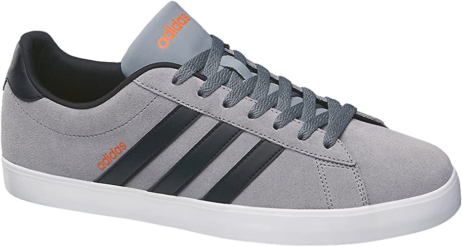 adidas Neo Mens Grey Black Orange DSET Lace Up Trainers Sneakers Shoes