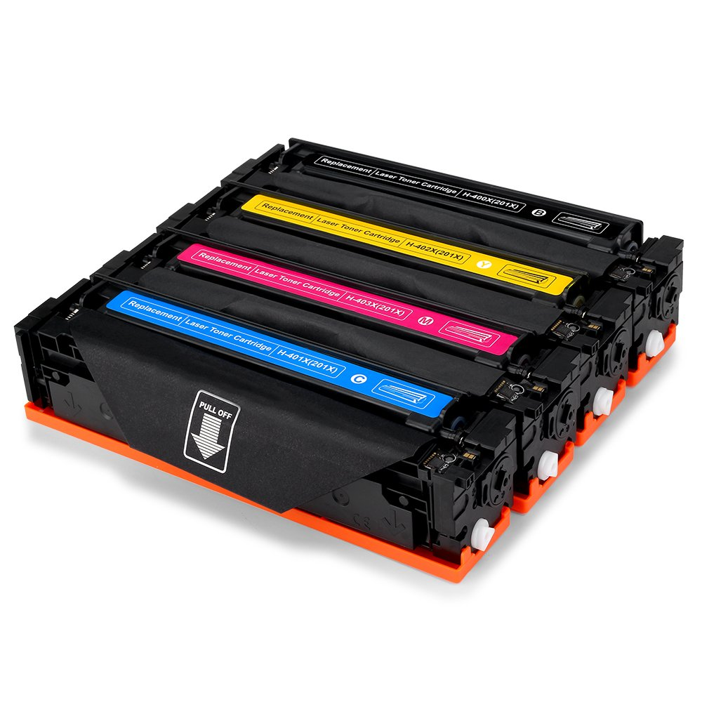 Office World Compatible Toner Cartridge Replacement for HP 201X CF400X(1 Black, 1 Cyan, 1 Magenta, 1 Yellow),Compatible with HP Color LaserJet Pro M252dw M252n MFP M277dw MFP M277n M277c6