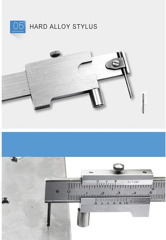 Caliper Caliper 0-200mm Parallel Crossed Caliper Vernier Micrometer Gauge Caliper Gauge Stainless Steel Marking Gauge Metri