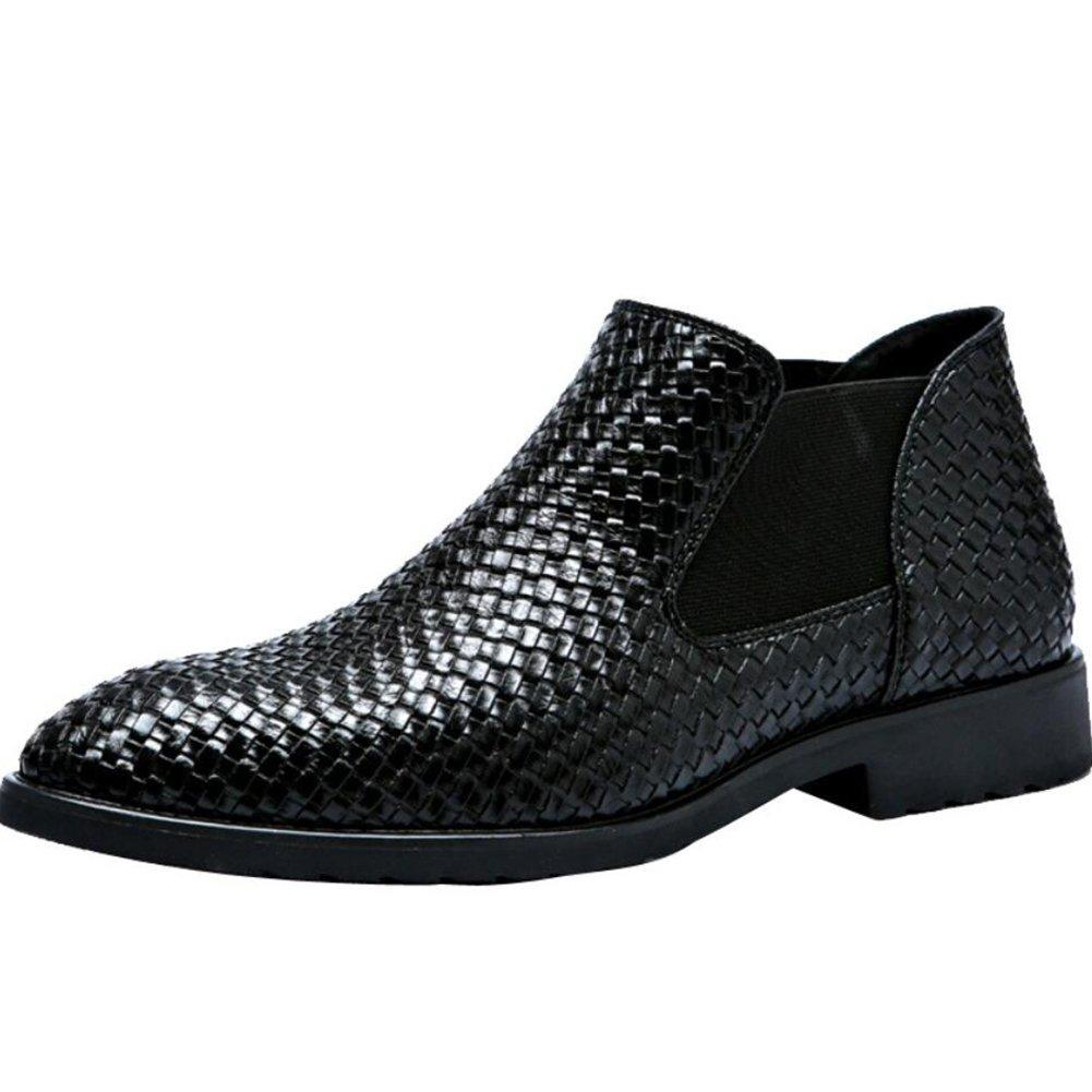 Zapatos de los Hombres PU Primavera Otoño Comfort para Casual Inglaterra Zapatos con Punta Mocasines y Slip-Ons Zapatos 46 EU|Un